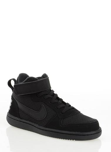 Nike Court Borough Mid Siyah